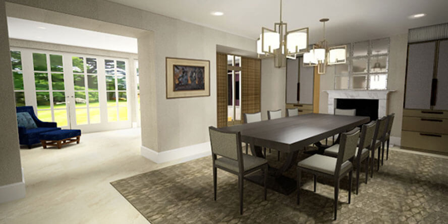 Roselind Wilson Design Carlton 3D render before