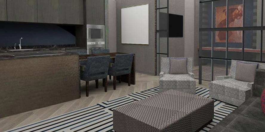 Roselind Wilson Design Eastcastle Street 3D render before