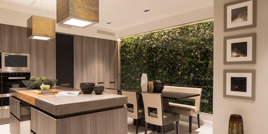 A large modern kitchen design