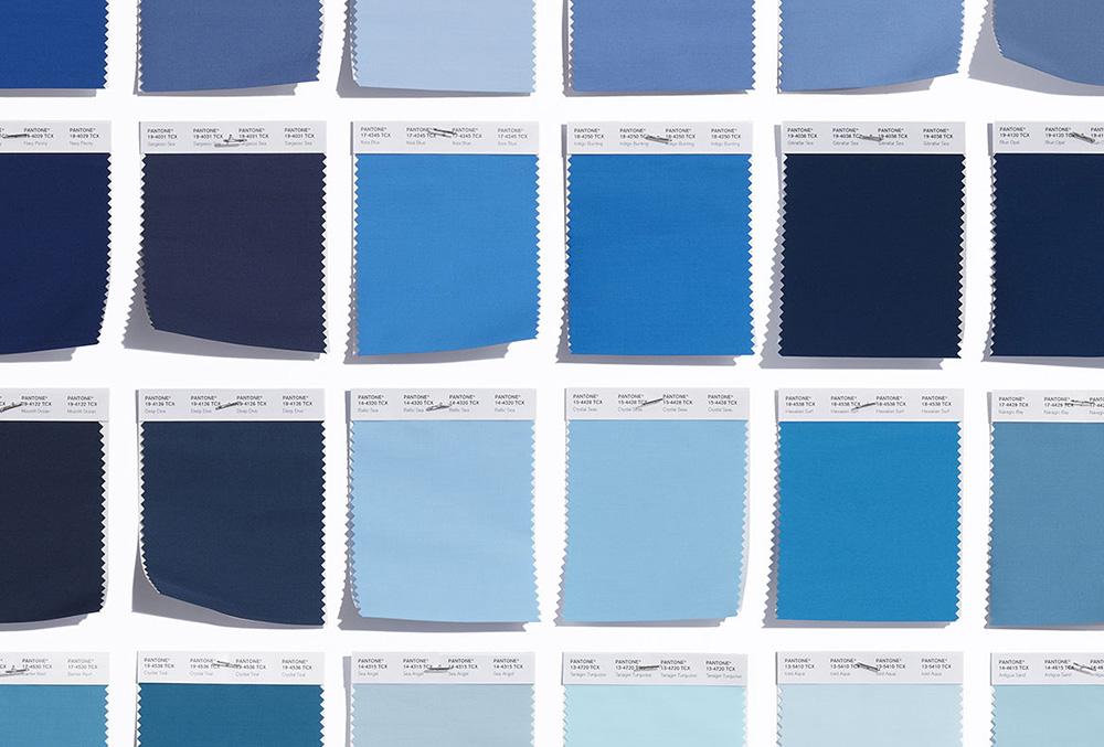 shades of pantone blue