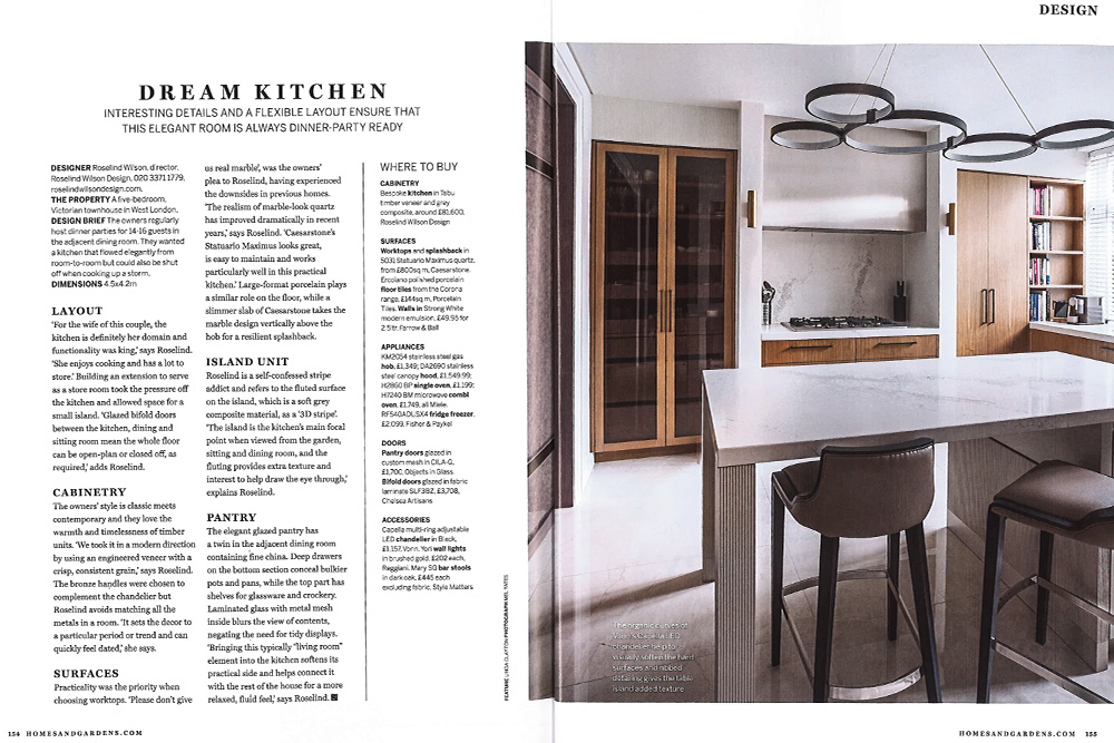 dream kitchen magazine feature