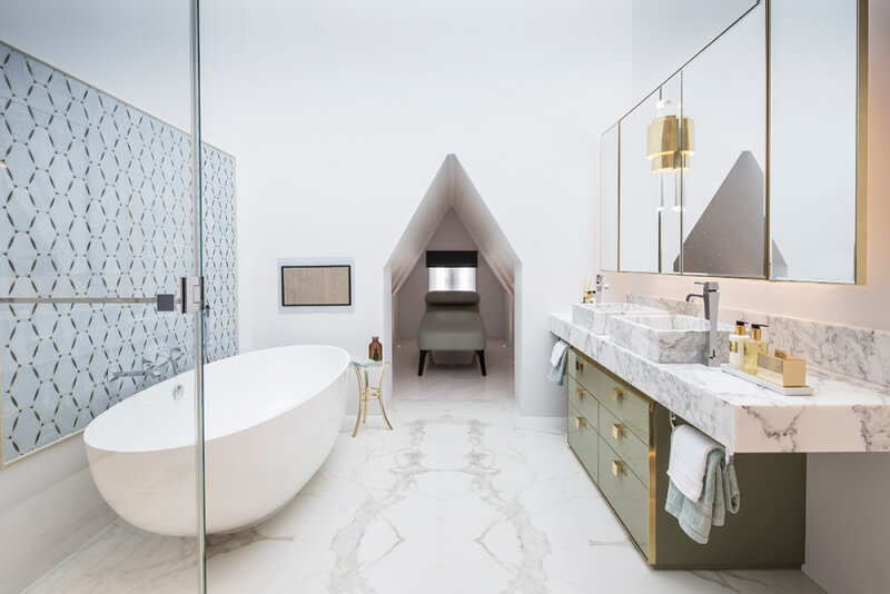 modern bespoke bathroom