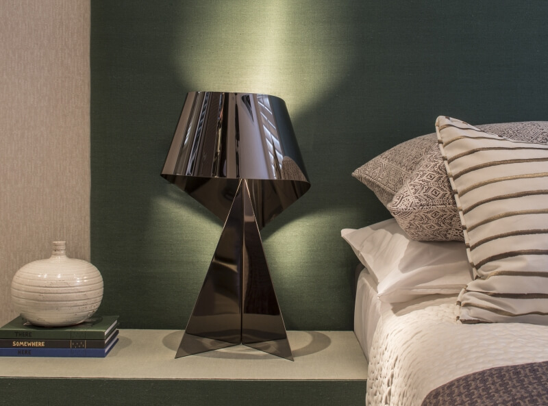Gunmetal ribbon table lamp, Habitat