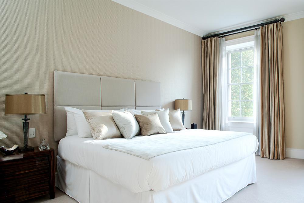 Guest bedroom layering