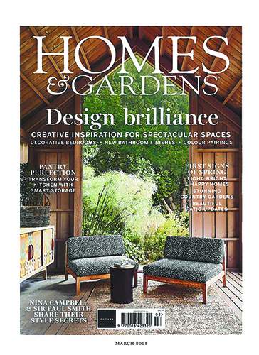 homes and gardens magazine cover march 2021 issue