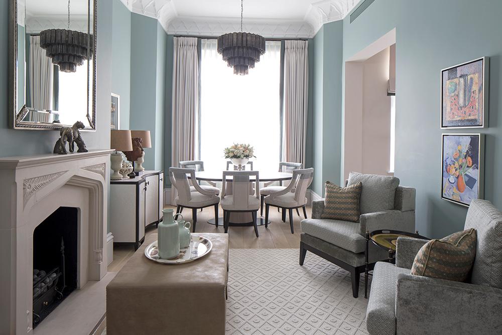 Classic contemporary living room interior design
